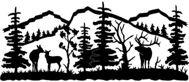 Mountain Scene Elk Family Metal Wall Art (Powered by ...