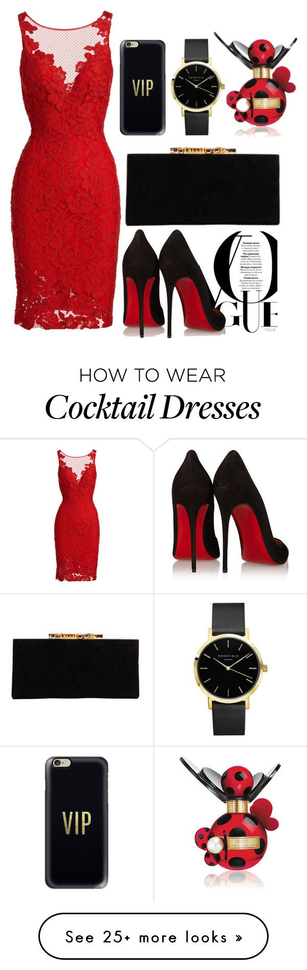 """""""VIP"""" by denaexr on Polyvore featuring ML Monique Lhuillier, Marc Jacobs, Christian Louboutin, Jimmy Choo and Casetify"""