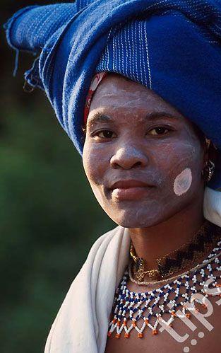 Africa | Xhosa bride. Johannesburg, South Africa | ©Roger De La Harpe
