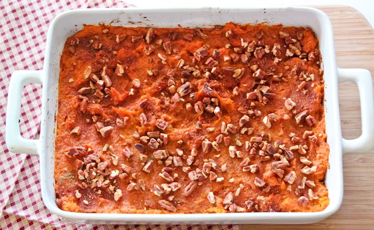 Low Calorie Sweet Potato Casserole - only 100 calories per serving and the most delicious side dish ever!