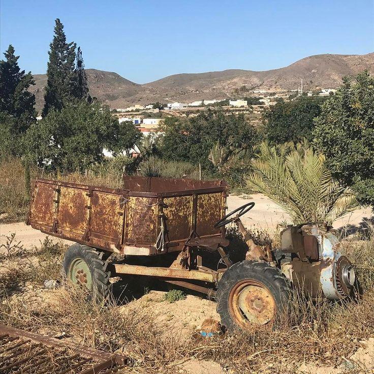 Spanish tractor #spain #landscape #tractor #farming