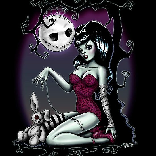 Alice in Stitches - a homage to a few of my favourite things - zombie pinups, Nightmare Before Christmas and Alice in wonderland