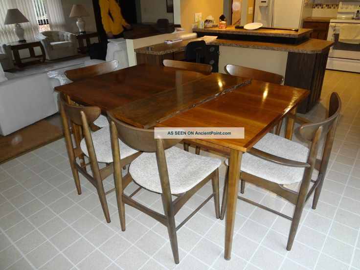 Vintage Mid   Century Modern Walnut Paul Mccobb Stanley Dining Table Chairs  Danish Photos And Information In AncientPoint