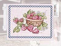 frutta cesto di fragole Fiori a punto croce, Motivi