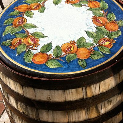 Discount Patio Furniture Using Wine Barrels | | Blissfully DomesticBlissfully Domestic
