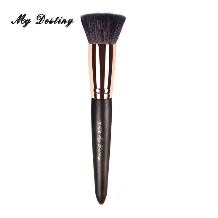 MY DESTINY Flat Goat Hair Base Foundation Brush Kabuki Make Up Makeup Brushes Kwasten Pincel Maquiagem Brochas Maquillaje 003 #Affiliate