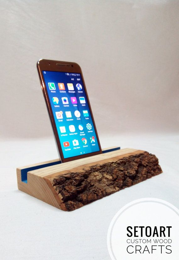 Docking Station Cell Phone Stand Wooden Phone Stand by Setoart
