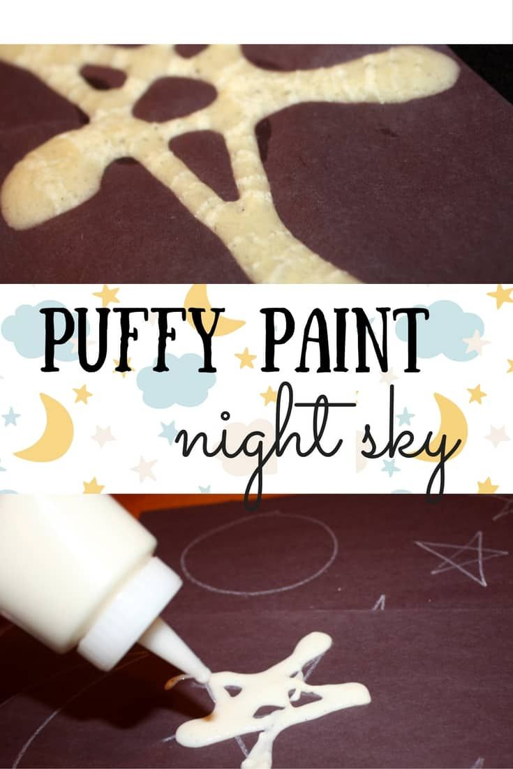 Puffy Paint Night Sky A Glow In The Dark Toddler Art