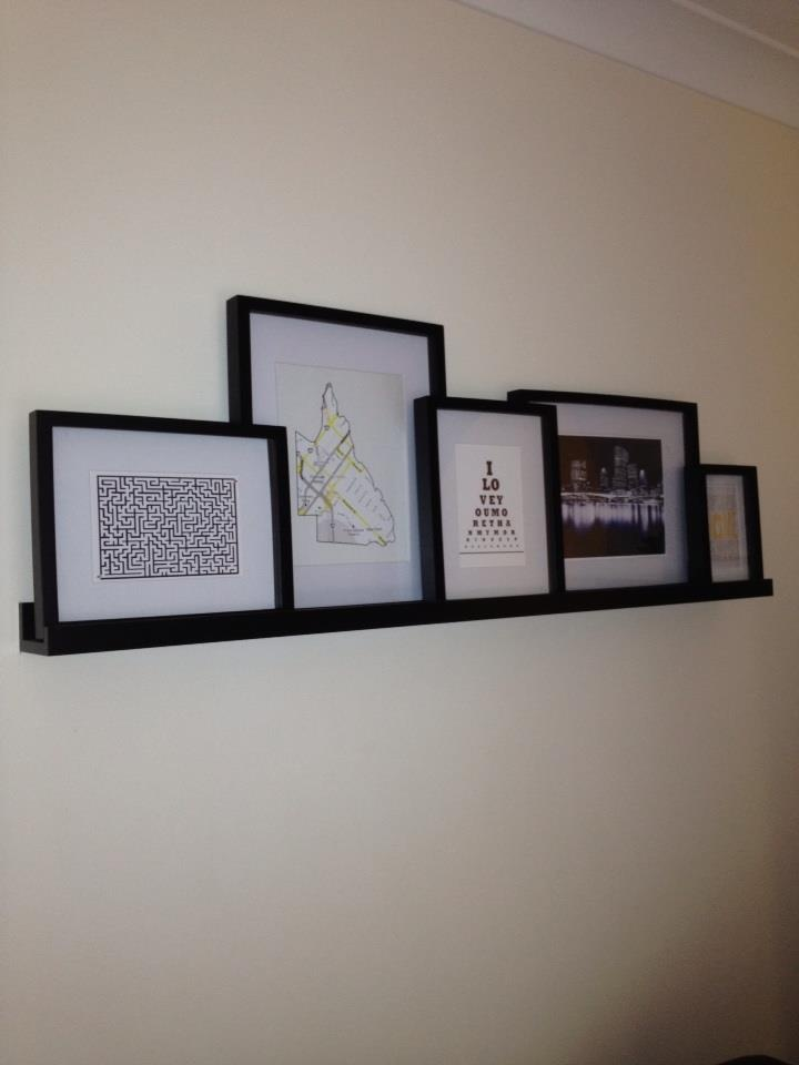 Wrap Diffe Sized Pieces Of Cardboard In Wring Paper Hang Them Above The Couch Don T Need An Actually Shelf We Can Fake