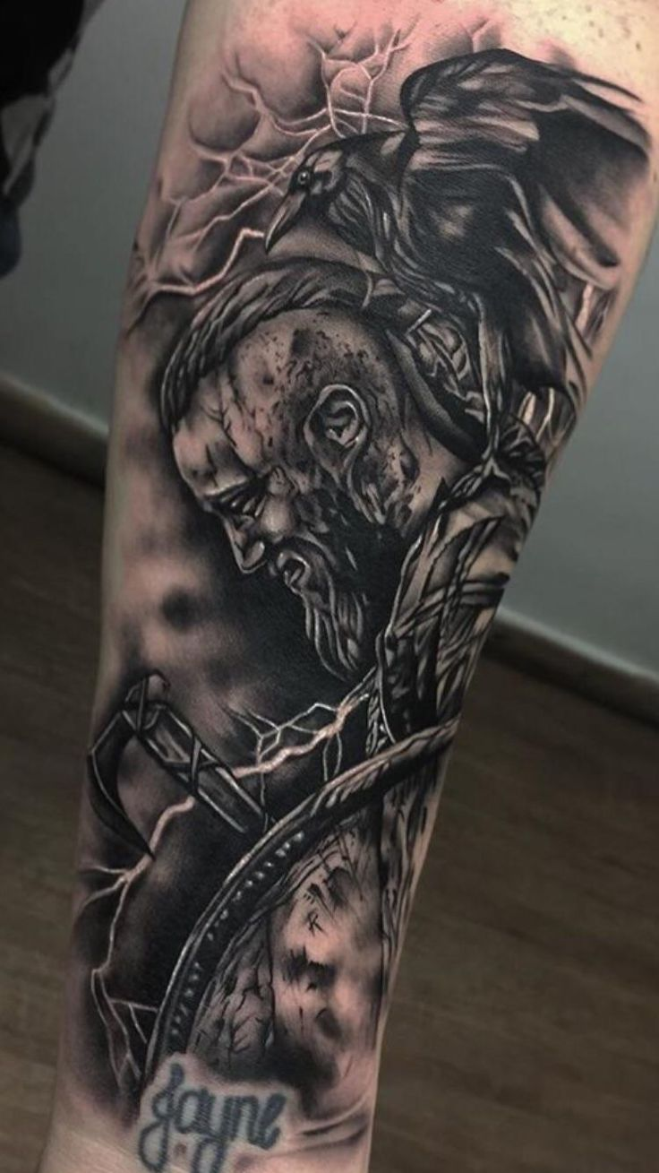 Ragnar Lodbrok by Bobby Loveridge Church Yard Hitchin UK ...