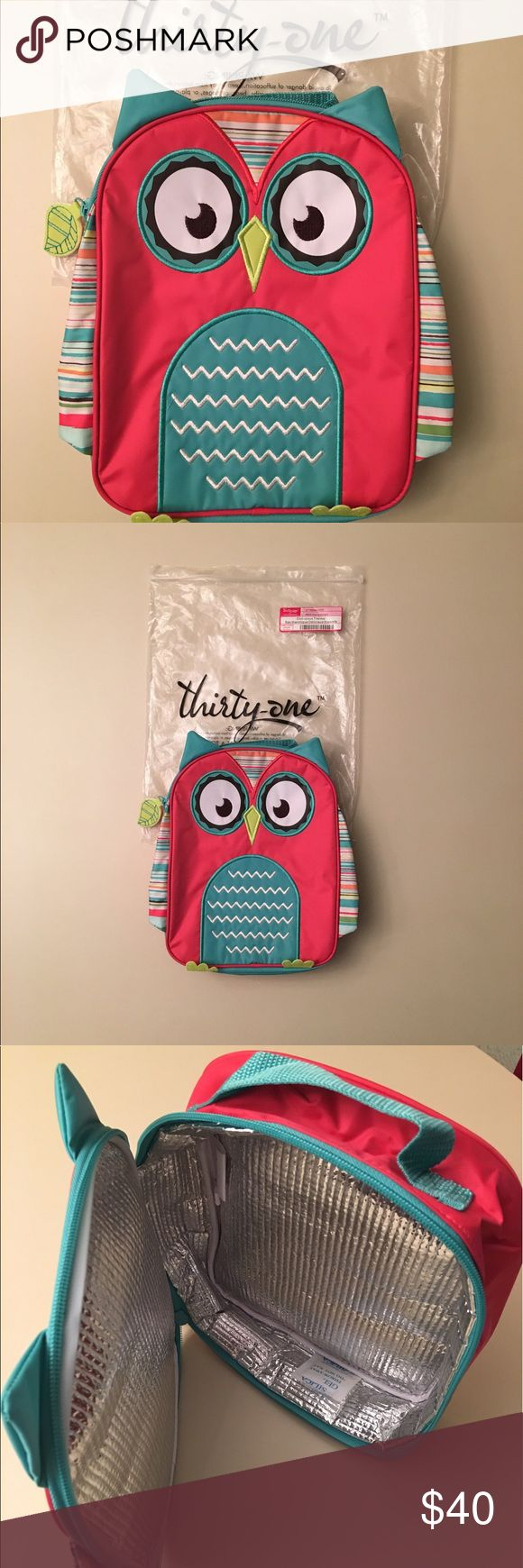 Thirty-one Whoo's Hungry Chill-icious Thermal Bag Thirty-one kids' lunch thermal in a cute owl pattern. Limited edition. Retired print. Thirty-one Accessories Bags