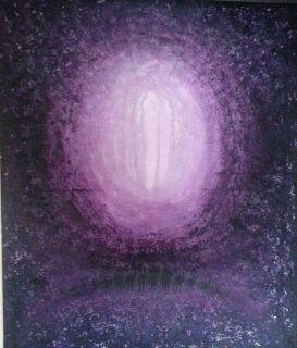 """""""Sammen i lyset"""" Akryl på lerret - 60 x 50 cm"""