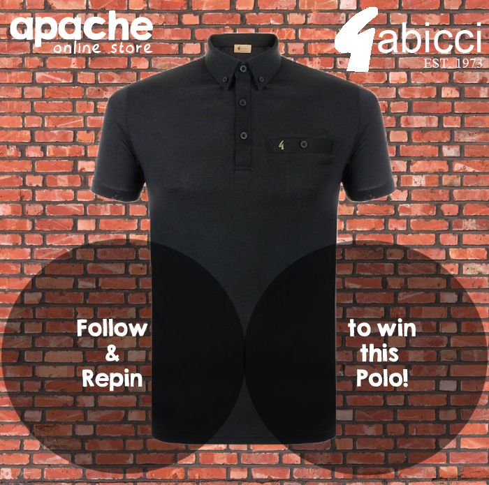‪#‎Competition‬ Follow Our Page, Re Pin this Post and comment your size to ‪#‎win‬ This ‪#‎Gabicci‬ Vintage Polo Shirt! ‪#RePinToWin‬ ‪#‎WinAPrize‬ http://www.apacheonline.co.uk