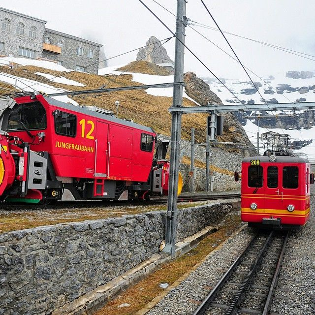 The train to The Top of Europe: Jungfraujoch, Switzerland.