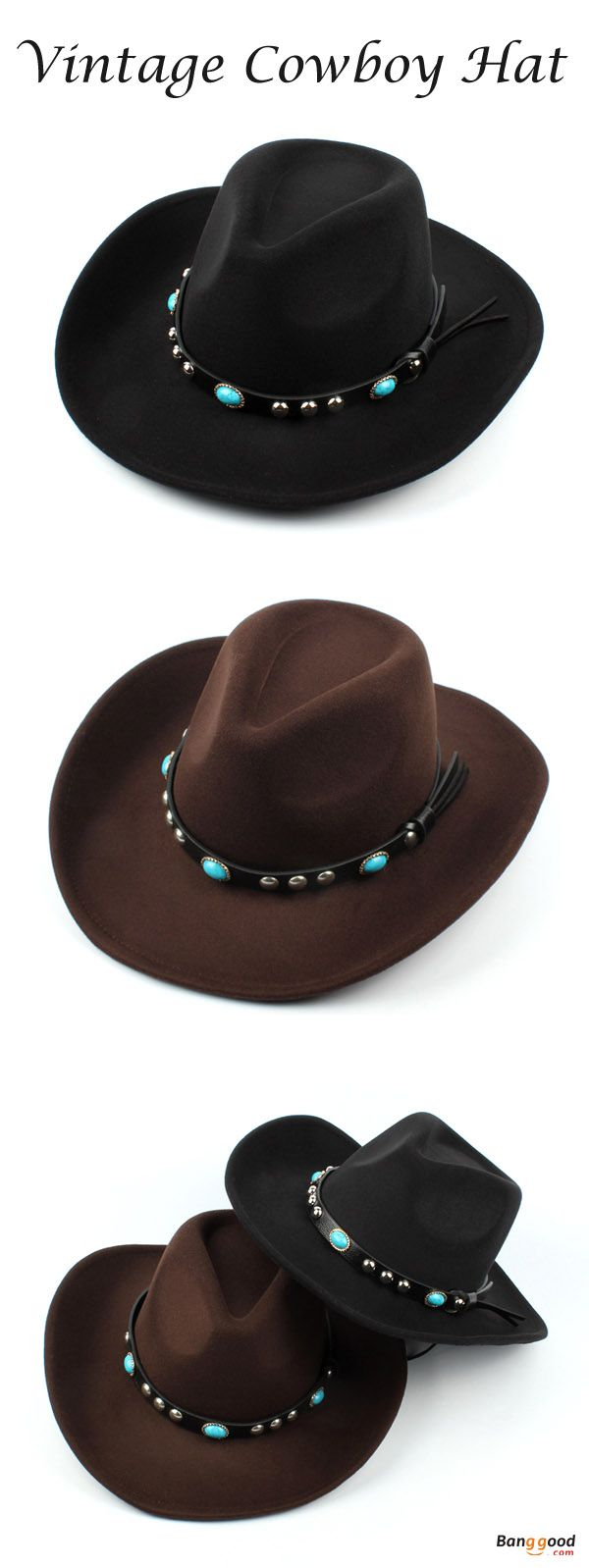 US$15.89+Free shipping. Vintage Cowboy Hat,  Wide Brim Hat, Jazz Cap, Horse Riding Hat. Unisex, Vintage, Jazz. Color: Coffee, Black.