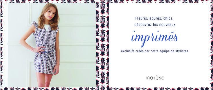 Les jolis imprimés fleuris, exclusifs Marèse à découvrir sur notre site et en boutique.