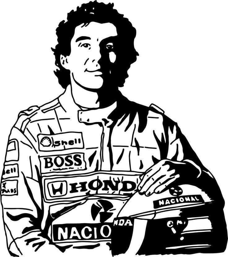 Sticker Ayrton Senna - 57x65 cm - 22,99 €