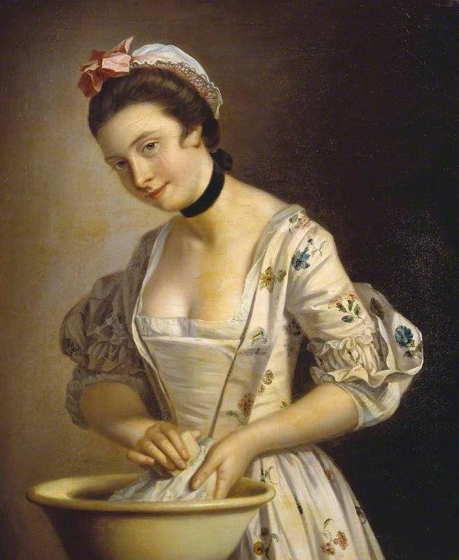 Henry Robert MorlandA Lady's Maid Soaping Linen c.1765-82