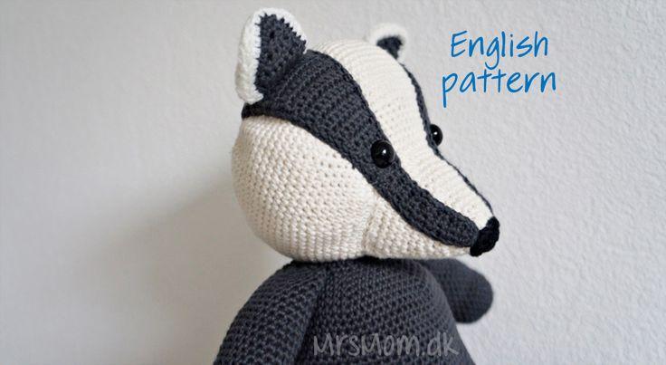 Crocheted Badger (JellyCat inspired)