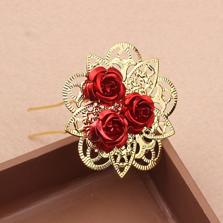 Handgemaakte bruid bloemen bloem kroon rose haar hoofddeksels haar guirlande festival bruiloft haaraccessoires hairclips