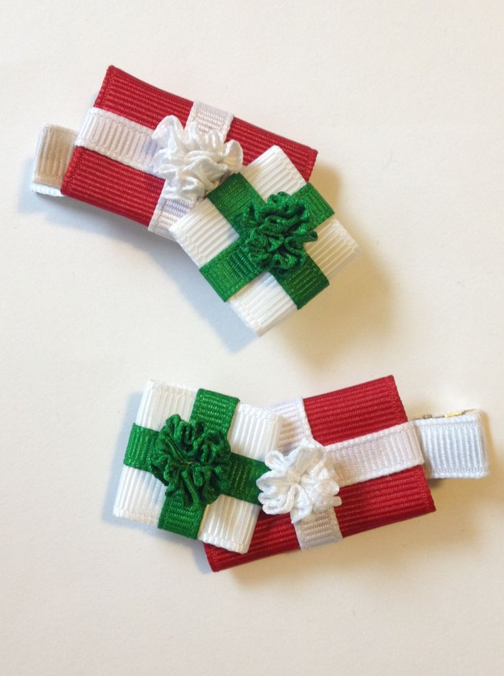Baby Bug Wear's Christmas Gifts Ribbon Sculpture Hair Clips!