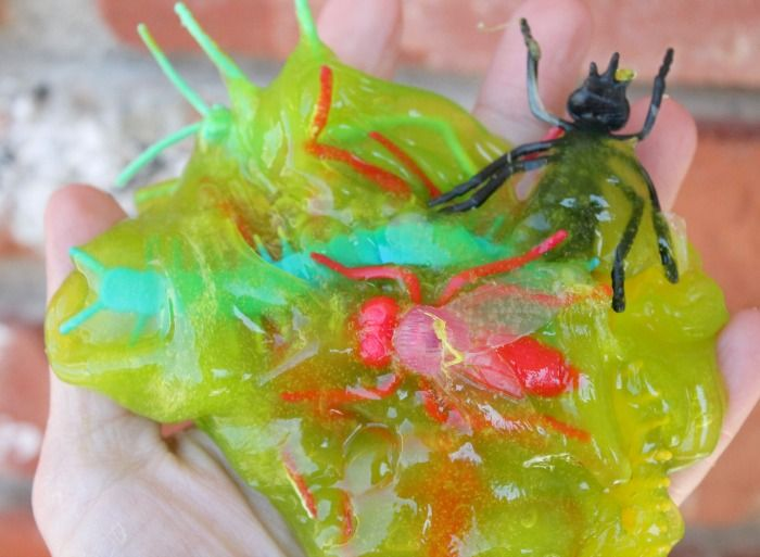 Bug Slime Easy DIY Slime Recipe For Kids. Green Ooze Slime made with Borax or Without Borax. Best Slime Recipe that is great Sensory Play Activity