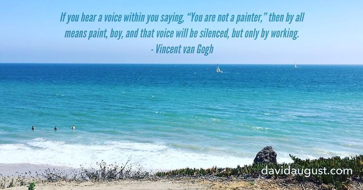 #tbt I took this photo while at a dead stop in traffic over the weekend. Today I saw this quote: If you hear a voice within you saying You are not a painter then by all means paint boy and that voice will be silenced but only by working. - Vincent van Gogh  #sea #ocean #sailboat #sky #surf #blue #waves #inspiration #vangogh