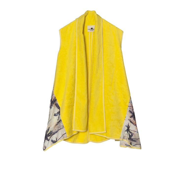 "Stand out at the beach in your ""Coachella Yellow"" Vest!"