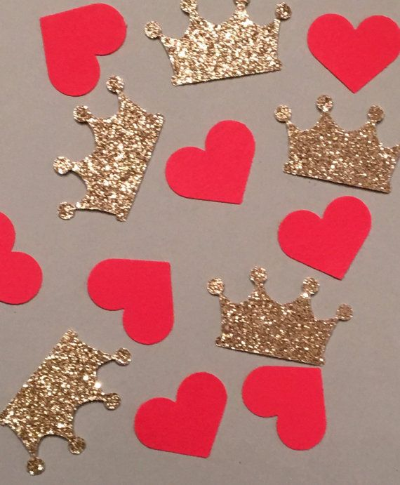 200 Queen of Hearts Confetti Crown Confetti by JBPartyCreations