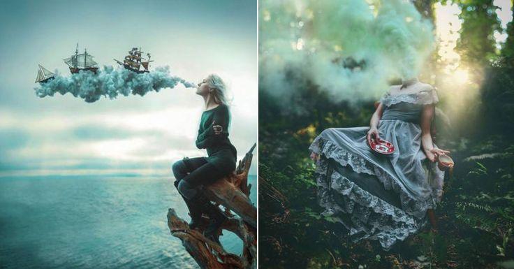 Artista crea paisajes surrealistas de otro mundo sólo con su cámara fotográfica