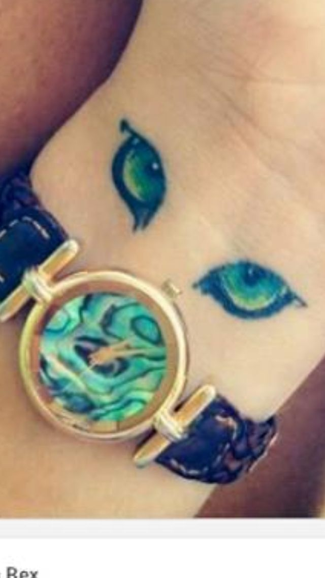 Cat eyes tattoo #tattoo #cateyes #wrist #placement #colorful