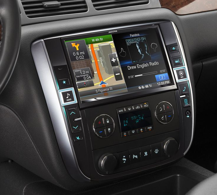 Live  larger  with this 9 touchscreen receiver  	  		You like to live large with your GM vehicle  why else would you drive a 2007-up Avalanche, Sierra, Silverado, Suburban, Tahoe, or