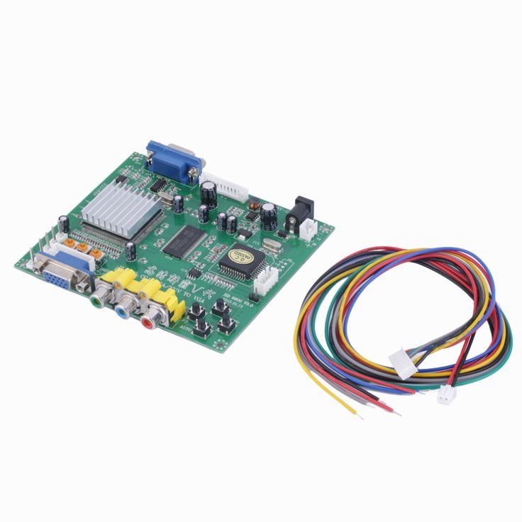 1 Unidades nueva rgb cga ega yuv a vga hd video converter junta gbs8200 hd9800 moudle