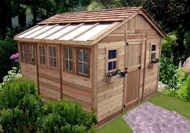 12 x 12 Sunshed Garden Shed with Dutch Door