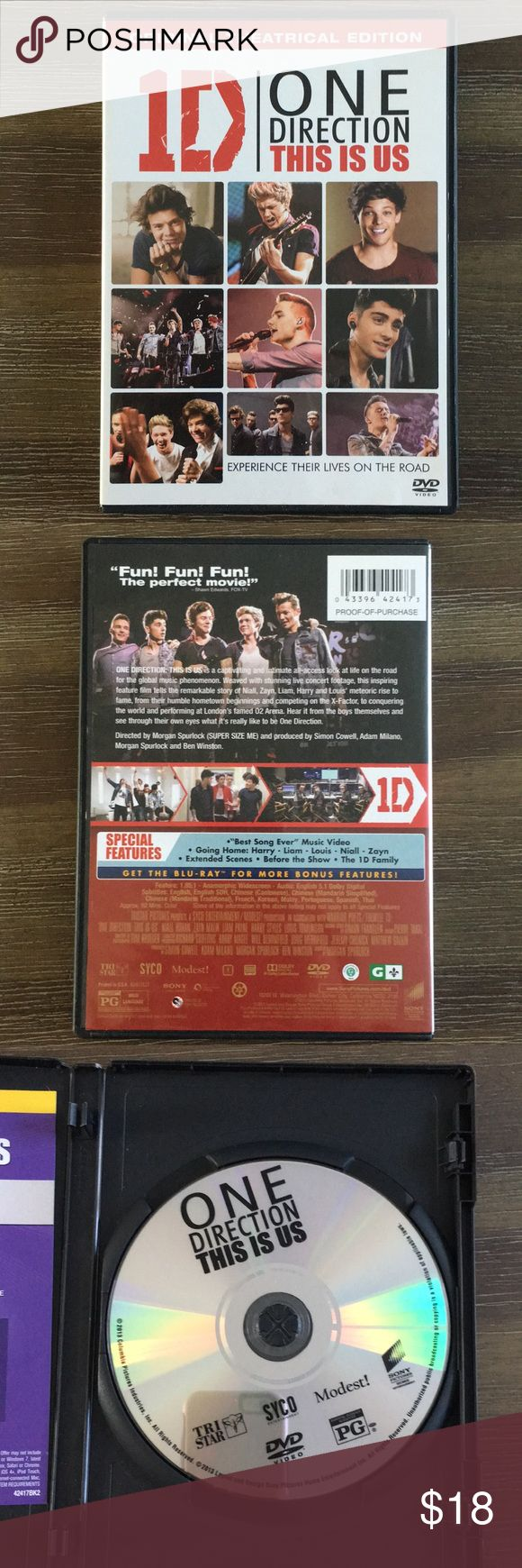 One Direction This is Us Concert DVD 1D This is Us concert dvd. Like new condition. No scratches. One Direction Accessories