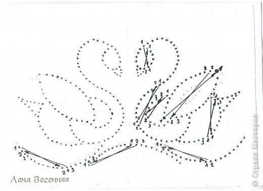 Вышиваем лебедей по схеме