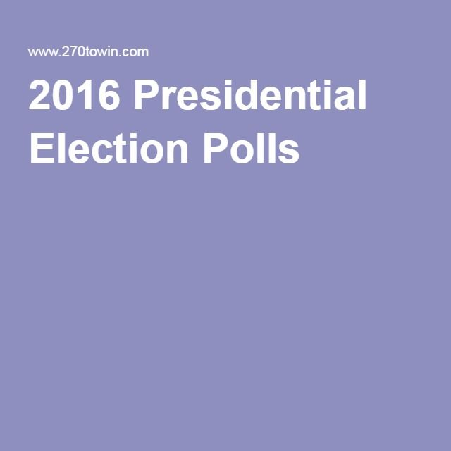 2016 Presidential Election Polls