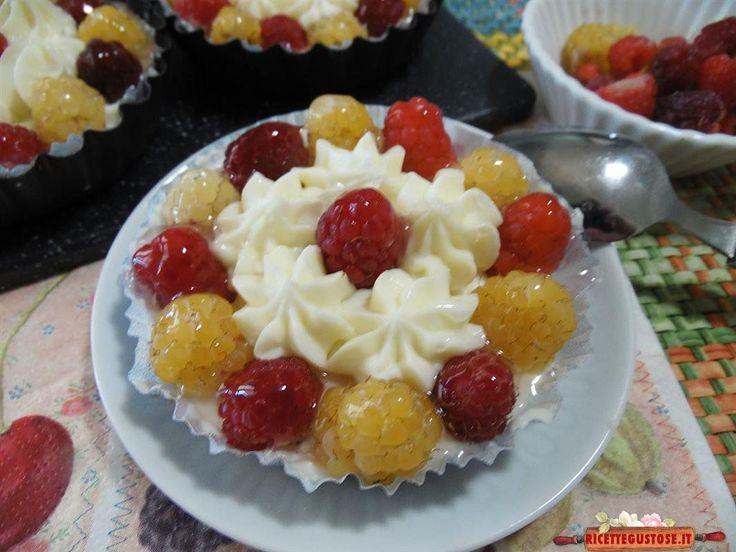 Cheesecake ai lamponi monoporzione - Gustose ricette di cucina