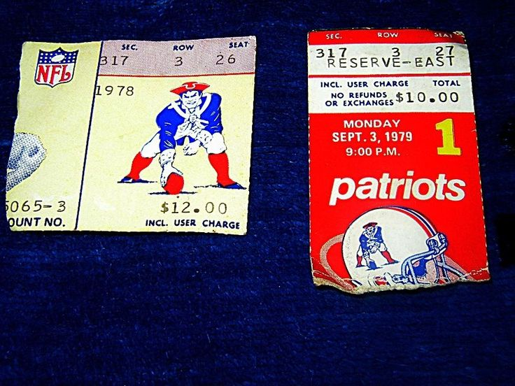 1978 & 1979 new england #Patriots ticket stubs 1979 first game vs wash redskins from $5.0