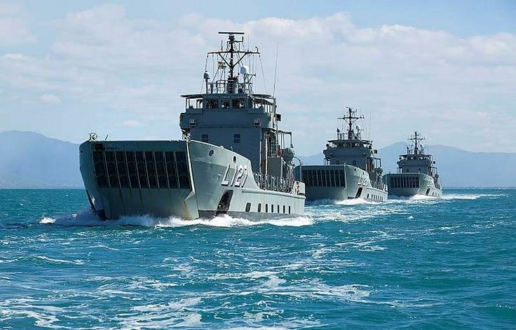 Royal Australian Navy Landing Craft Heavy, HMA Ships Brueni, Lauban and Tarakan depart Cairns Harbour. Now decomissioned.Defence Minister Kevin Andrews has undertaken to donate two Landing Craft Heavy vessels to the Philippines, the HMAS Tarakan and Brunei, formerly of the RAN. That comes as PAL in Indonesia finishes off building two Strategic Sealift vessels for Manila.