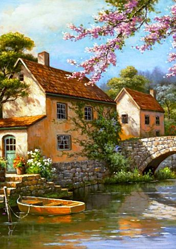 Sung Kim ~c.c.c~Riverside Cottage~ Country Village