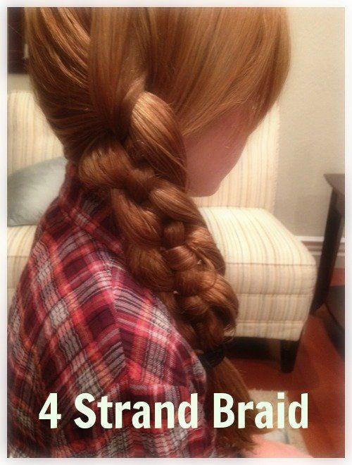 How to Make a 4 Strand Braid {hair tutorial}