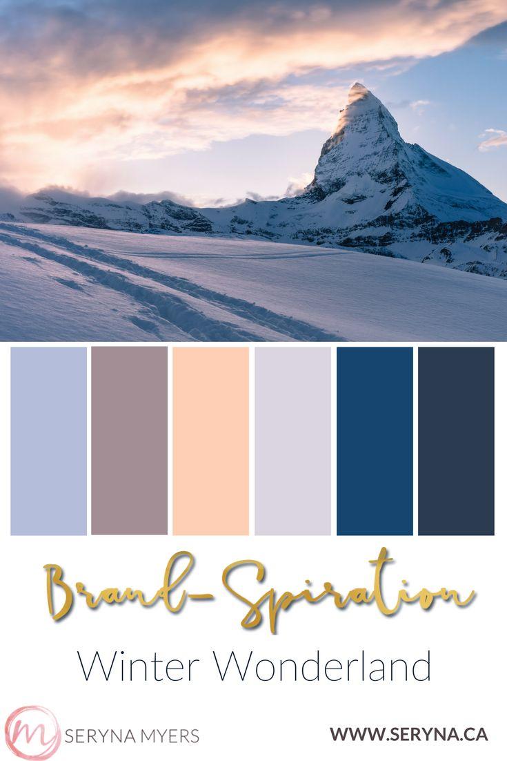 Beautiful pastel mountain landscape in winter. Soft colors, pale, snowy landscape.