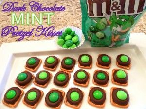 Dark Chocolate Mint Pretzel Kisses for St. Patrick's Day - Cookin' Cowgirl