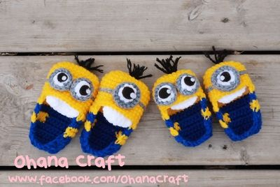 Minions baby booties 0~12 months