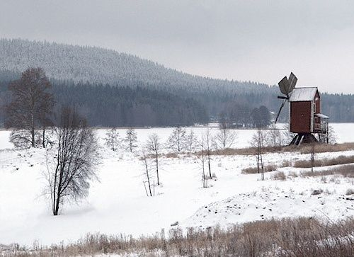 Old windmill in Niuva, Kuopio, Finland.