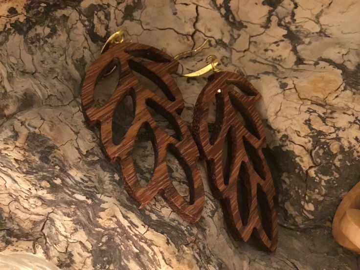 Wooden handcrafted earrings!!! With zebrano wood by Apoxylo.gr