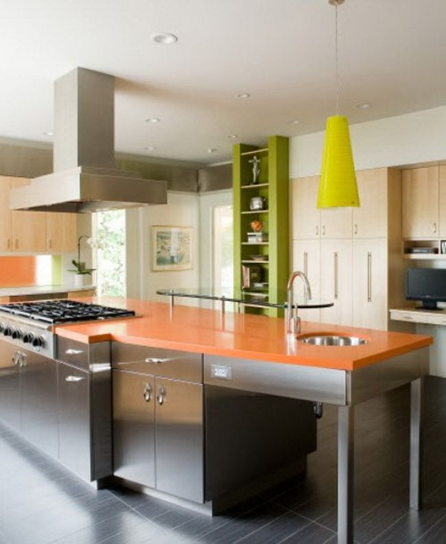 orange kitchen  GreenOrange Home  Pinterest  Orange kitchen, Green ...
