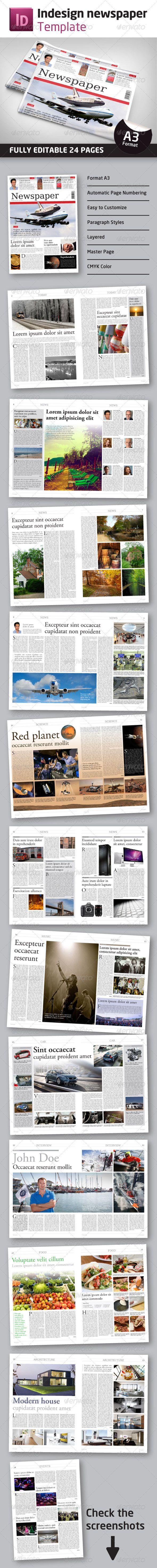 23 best Newspaper Templates images on Pinterest | Editorial design ...