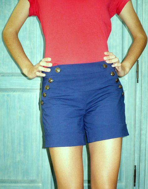 Sailor Shorts - Free Pattern and Tutorial